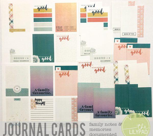 Tell Me Something Good! Hybrid Journal Cards for Family Members