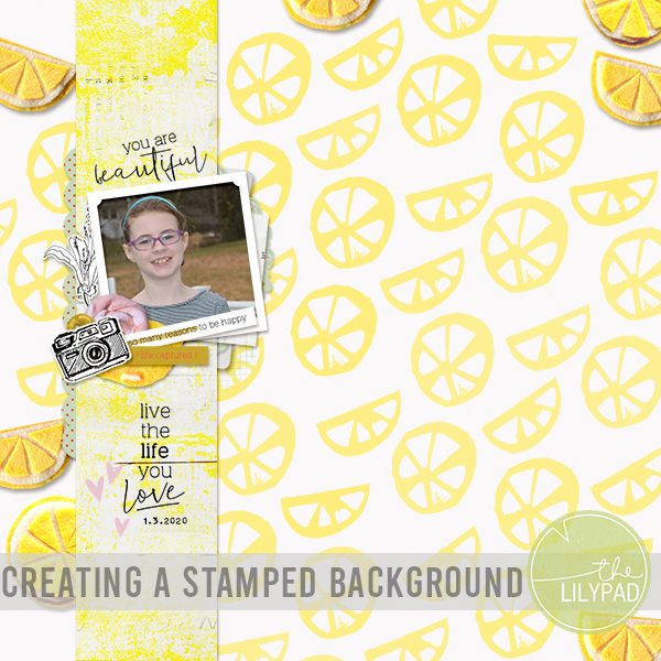 Creating a Stamped Background