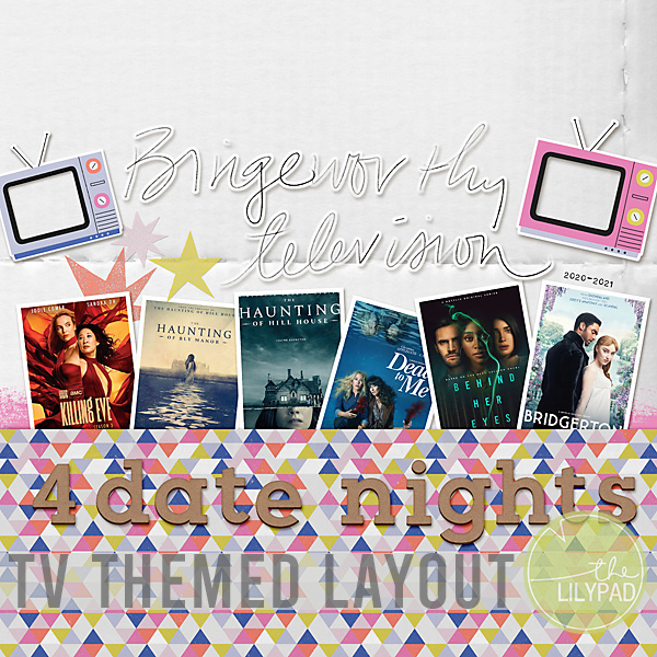 Scrapbooking a TV Themed Layout